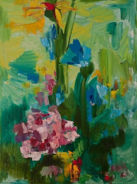 Irises 80x60 Acrylic Canvas. 20 - tanya_vasilenko | ello