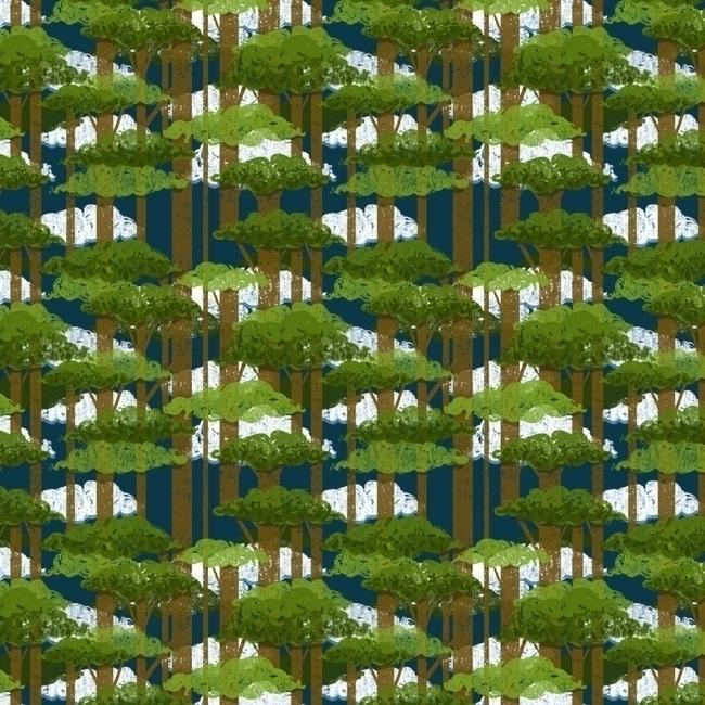 pattern, patterndesign, forest - stephaniekubo-8873   ello