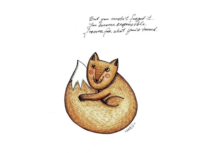 Fox - fox, illustration, thelittleprince - nikaq | ello