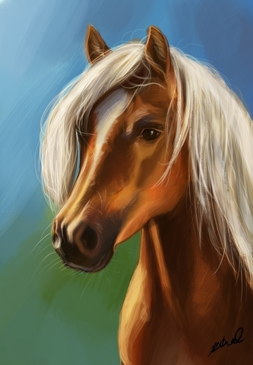 portrait horse - painting, digitalpainting - rkamalart | ello