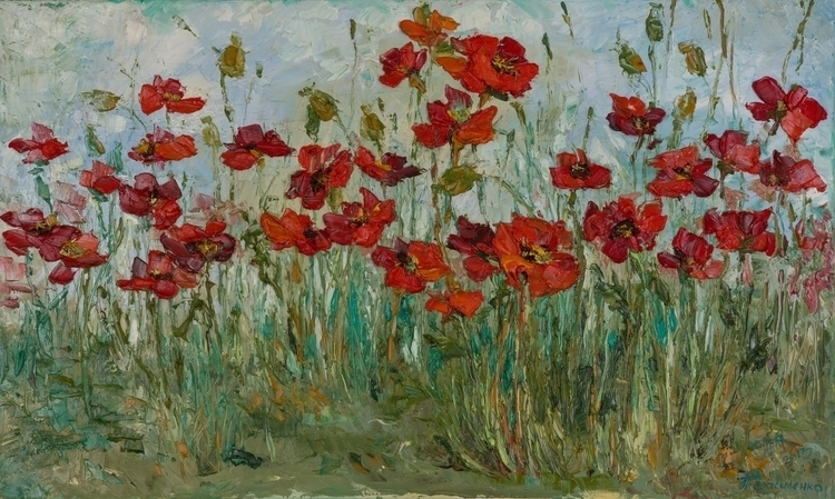 Shades Red Painting, 60 100 Oil - tanya_vasilenko | ello