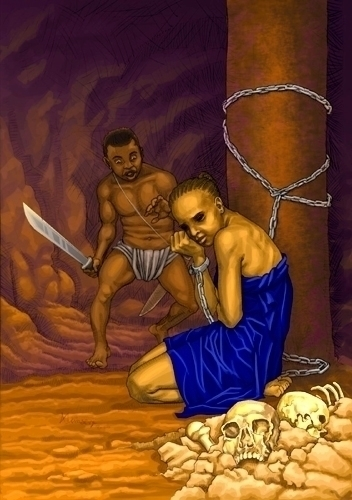 Prince Ifeanyi Magic Sword - pencilillustration - shola-5390 | ello
