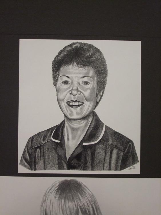 Friendly Nurse - drawing, portrait - stevenhart   ello