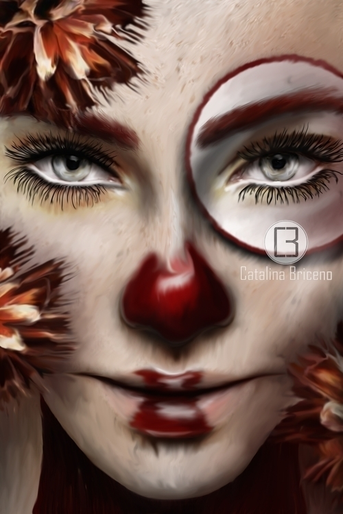 digitalart, clown, darkart - catalinabriceno | ello