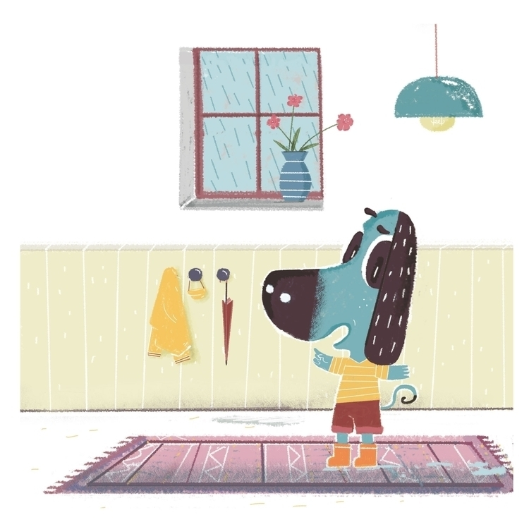 Wawa curious dog - illustration - ockto | ello