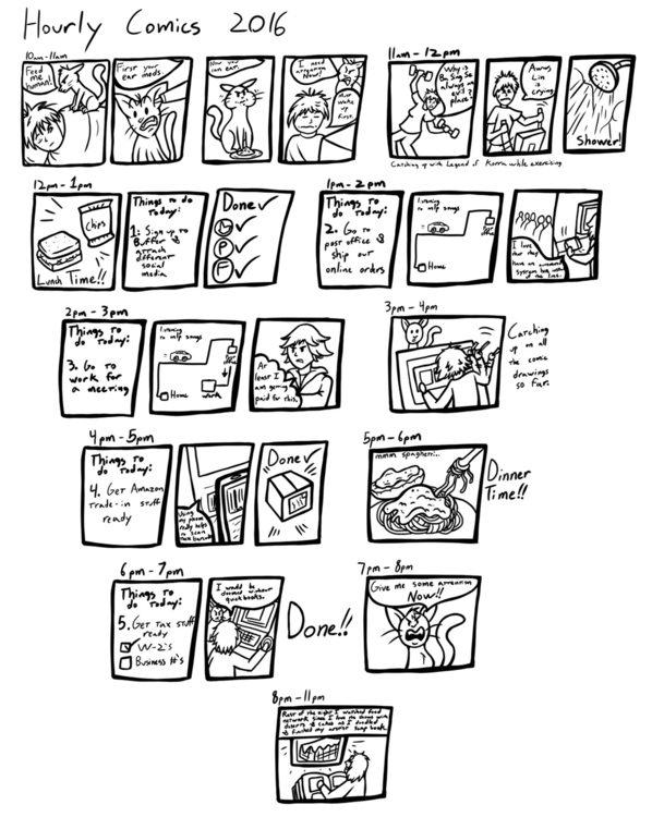 full attempt hourly comics year - jellysoupstudios | ello
