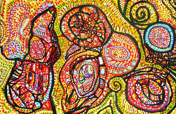 Manaseh 70x110 acrylic canvas - painting - dusan-9269 | ello