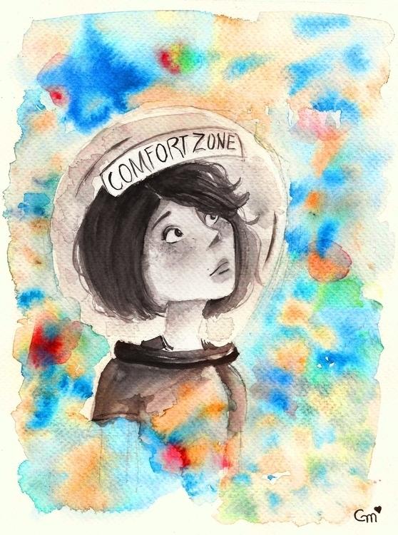 helmet time . beautiful colors  - gabrielamolinaro | ello
