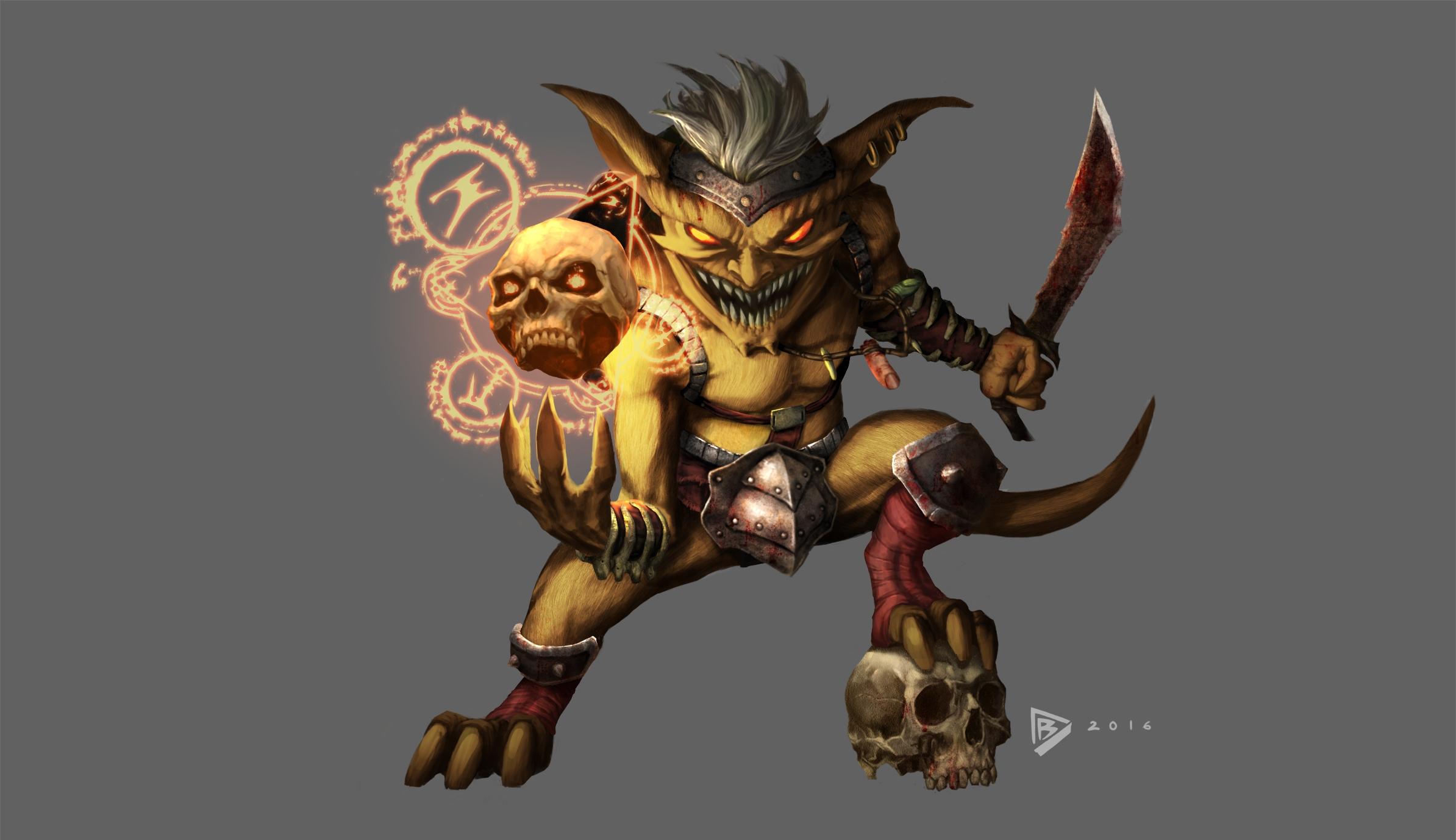 Goblin concept game Nephilim: F - dartbaston | ello