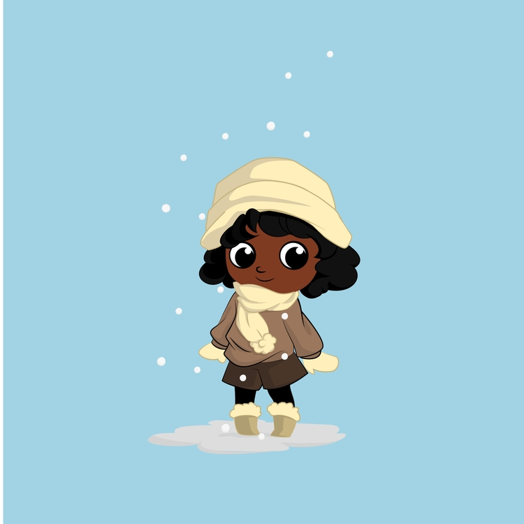 girl winter - illustration, characterdesign - qlink | ello