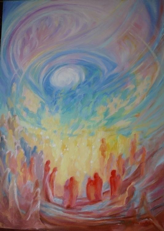 Chakra dance - painting, spiritual - hesione | ello
