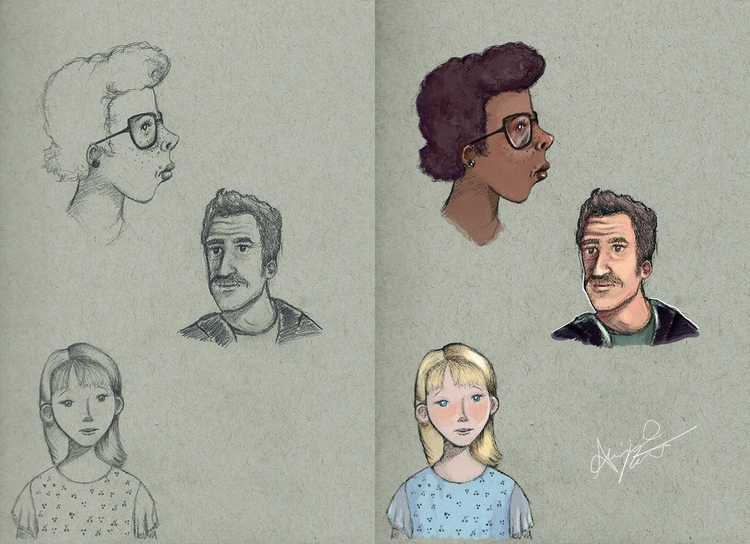 Character sketches, coloring Ph - abigailkraft | ello