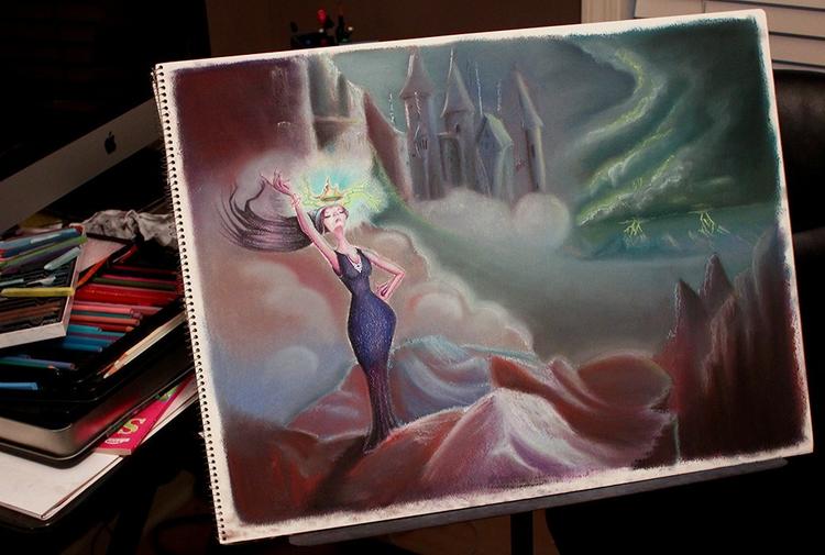 Coming Storm - illustration, fantasy - abigailkraft | ello