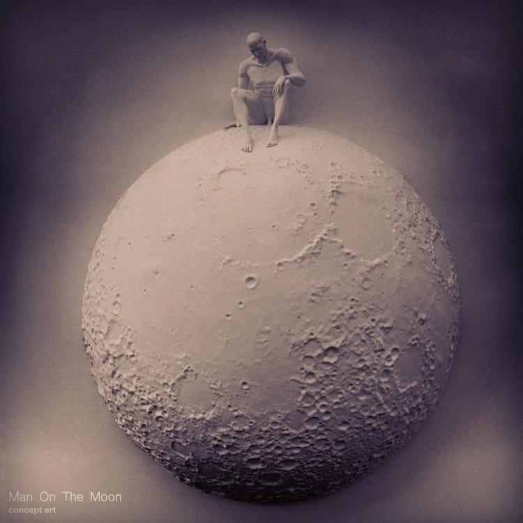 moon, 3d, print - joericochuyt | ello