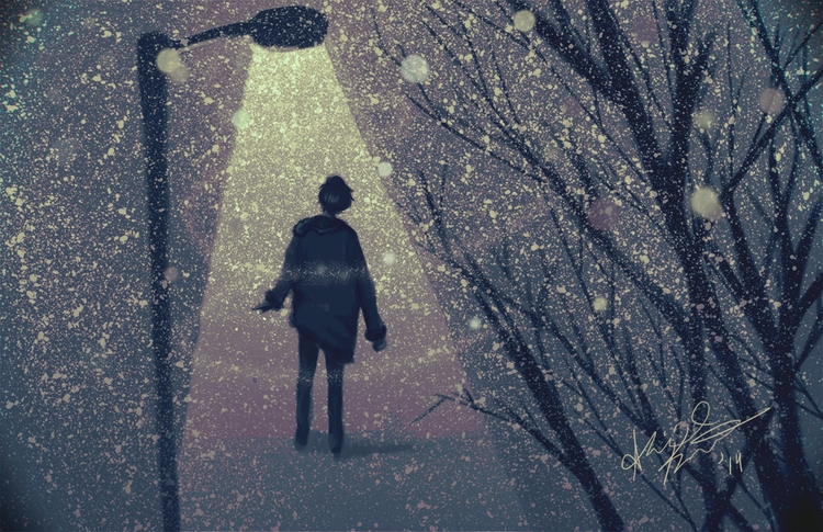 Snow - snow, illustration, digitalpainting - abigailkraft | ello