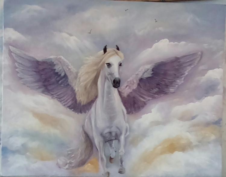 Pegasus A2 oil paint - foxyjo | ello
