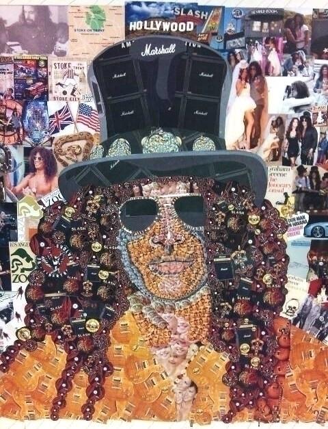 Detailed Slash Collaged Portrai - stevenhart | ello