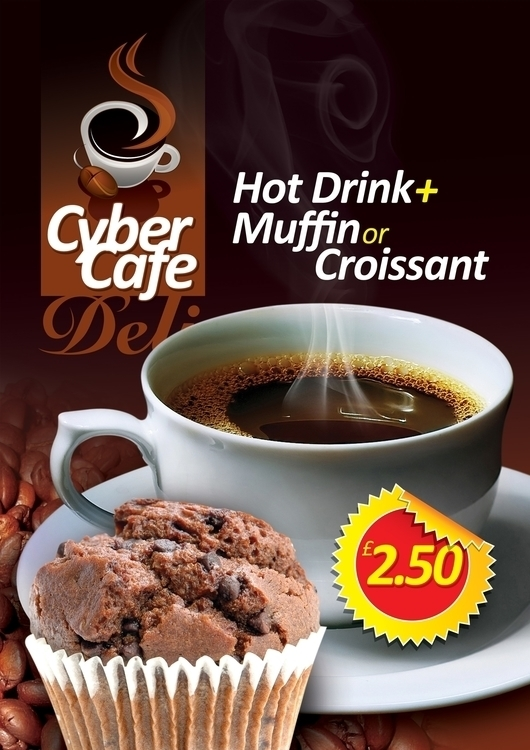 CyberCafe Poster Design. Bourne - ferdeesign | ello