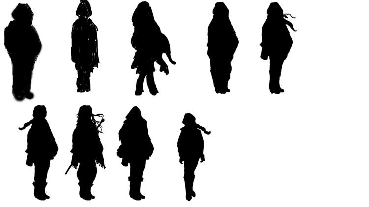Silhouettes Winter Hearts - silhouettes - derptin | ello