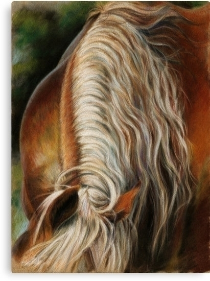 Hand painting horse mane. Paste - kate_vigdis | ello