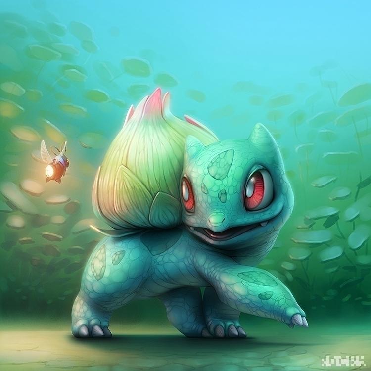 illustration Bulbasaur Pokemon  - rocky-1221 | ello