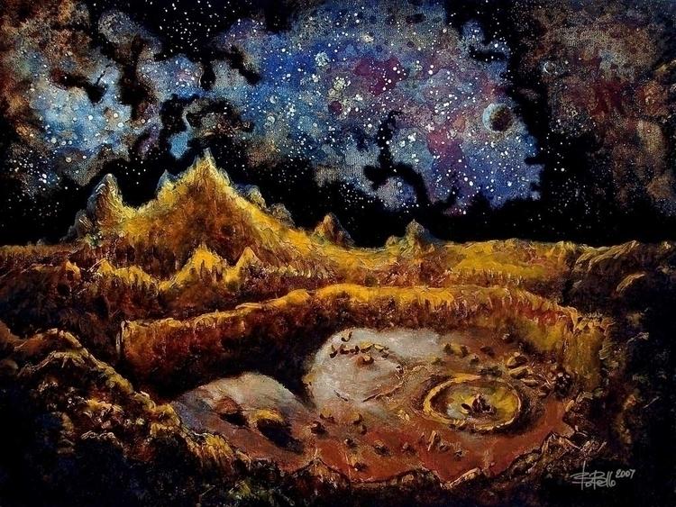 Lunar Scape, 2007, oil canvas,  - timeship   ello