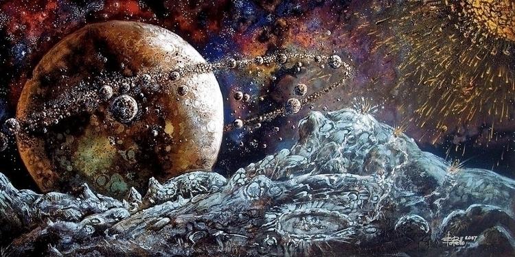 Million Moons, 2007, oil canvas - timeship | ello