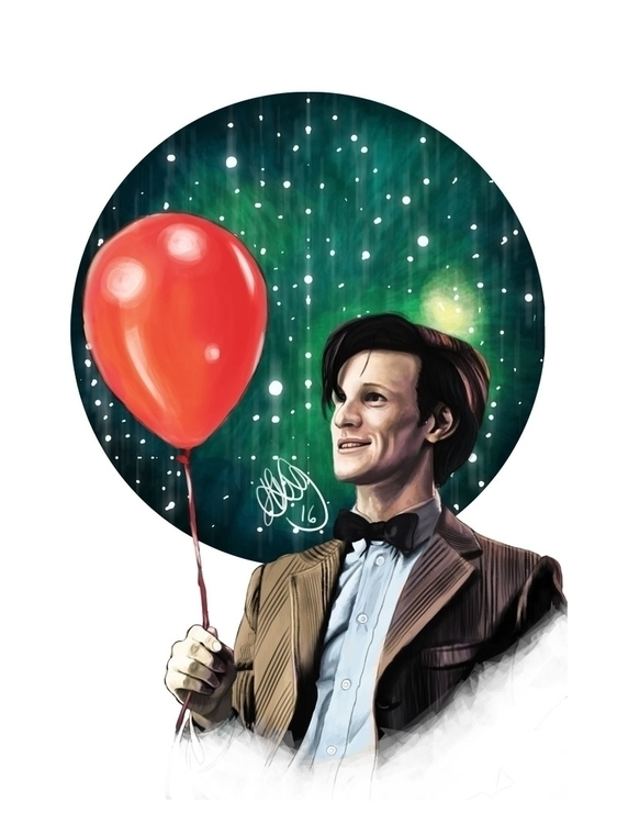 Digital painting Matt Smith Ele - hellonsy | ello