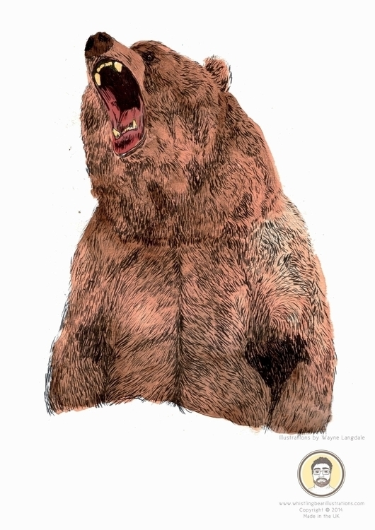 Illustration Bear Tiger project - whistlingbear   ello