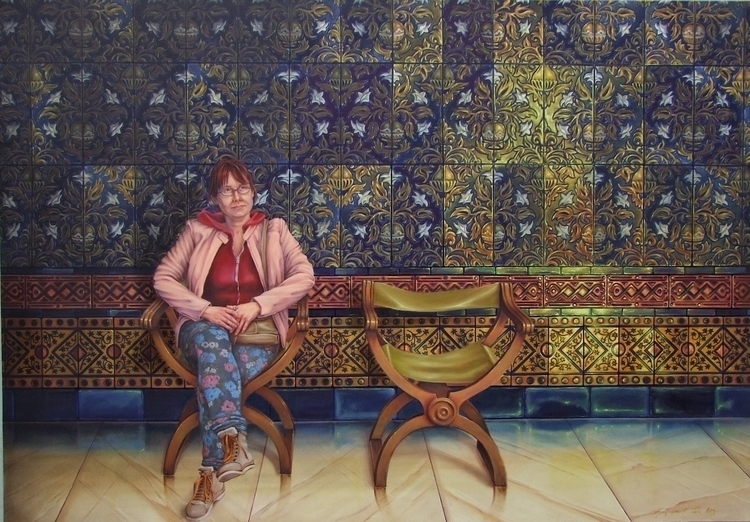Waiting narcissist Oil canvas 1 - laurence-4020 | ello