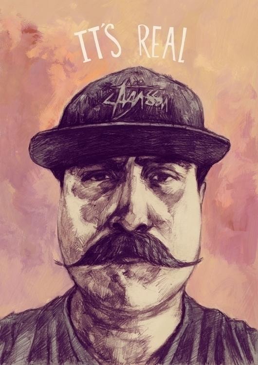 illustration, portrait, mustache - tomsoftley | ello