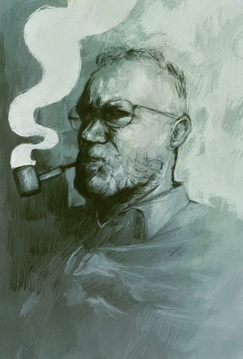 illustration, monochrome, portrait - tomsoftley | ello