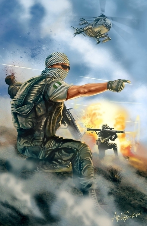 Frontline - War BOKO - illustration - woody-2265 | ello