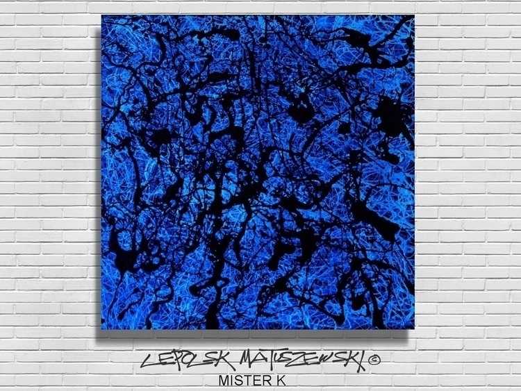 BLUE RAIN Lepolsk 40x40cm abstr - lepolsk-1257 | ello