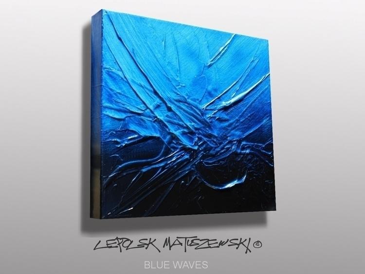 BLUE WAVES Lepolsk 30x30cm Abst - lepolsk-1257 | ello