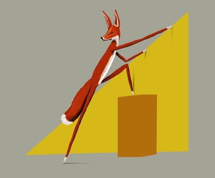 fox, animal, illustration - skuggan | ello