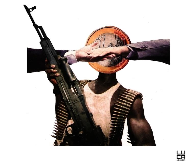 weapons, humanrights, collage - lucamendieta   ello