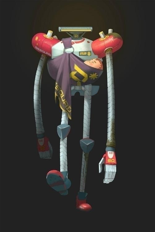 Rescue robot - characterdesign, conceptart - foxhideblog   ello