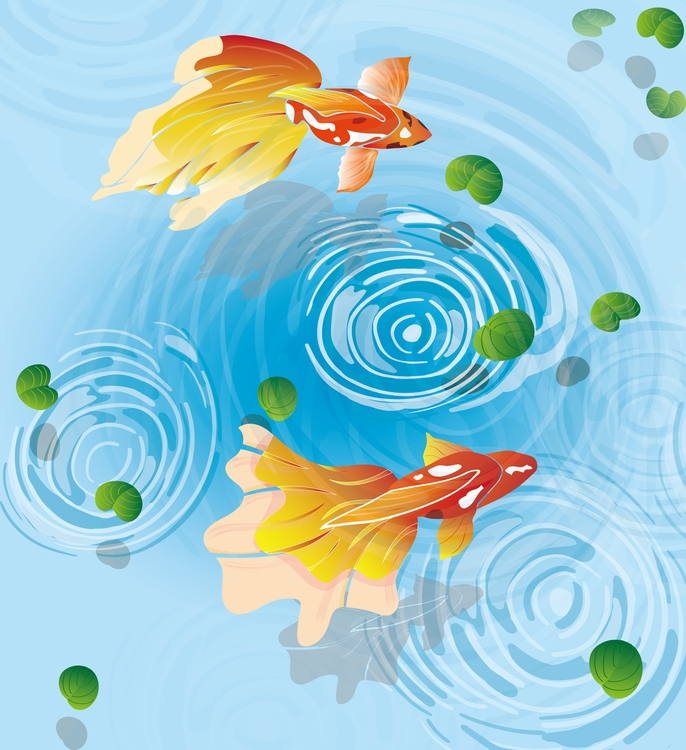 goldfish - illustration#digitalart#design#characterdesign#photoshop#painting#davisvrworks#drawing#conceptart - moonlighttwosu | ello