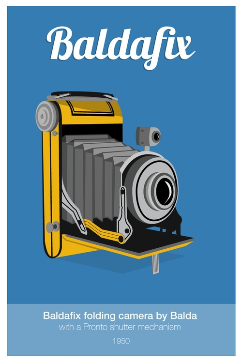 Baldafix Folding Camera - illustration - miles-4949 | ello