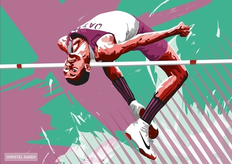 digital portrait Mutaz BARSHIM - christelsaneh | ello