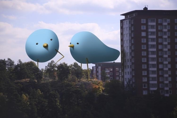 bird, animal, illustration, characterdesign - skuggan | ello