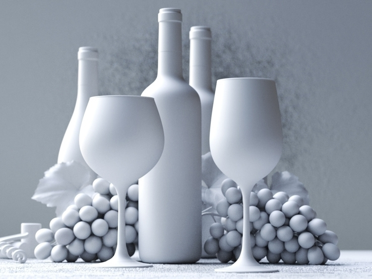 Vinho - CGI malha - wine, 3d, 3dart - edivan-5333 | ello