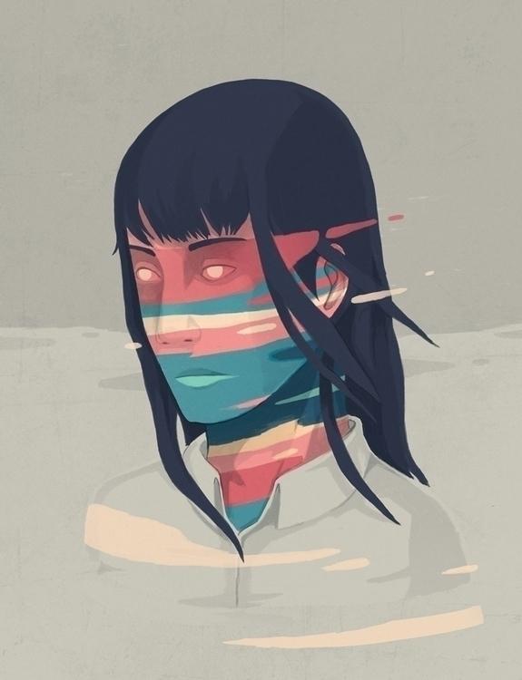 Inversion 02 - girl, portrait, colors - renonogaj | ello