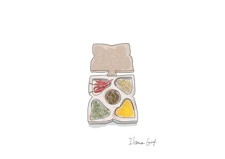 Spices - illustration, Food, foodillustration - ilanagraf | ello