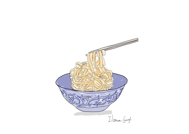 Noodles - noodles, illustration - ilanagraf | ello