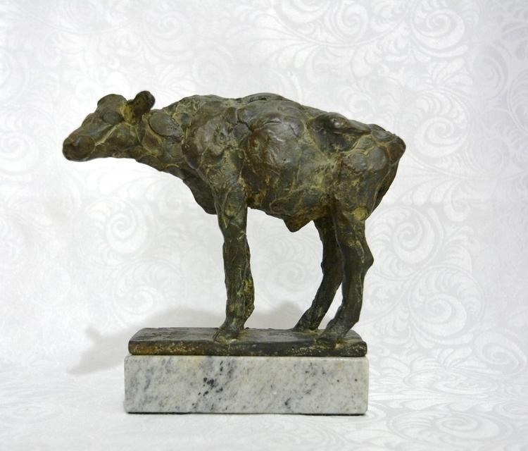 YOUNG CALF - sculpture, 3dart, animals - barakesculptor | ello