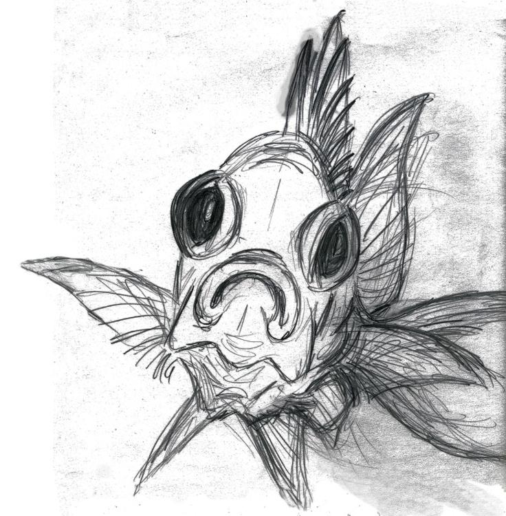 Squirrelfish drawing graphite - illustration - deborahwillard | ello