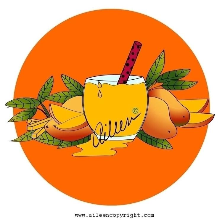 Néctar de Mango / Nectar Illust - aileencopyright | ello