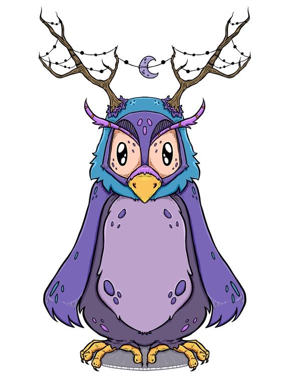 Moondust Owl - Character concep - zita-3948 | ello
